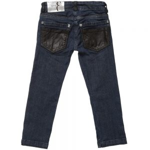 BILLIONAIRE Boys Dark Blue Denim Trousers 1