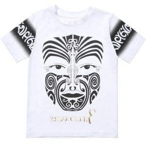 BILLIONAIRE White Cotton Mask Print T-Shirt
