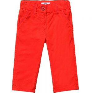 BOSS Baby Boys Red Cotton Chinos
