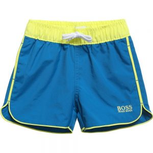 BOSS-Baby-Boys-Teal-Blue-Swim-Shorts