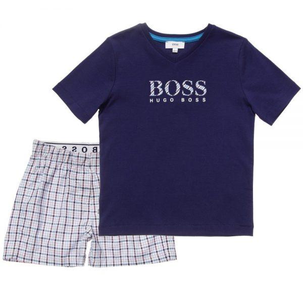 BOSS-Boys-Navy-Blue-Check-Pyjamas-in-a-Gift-Box-2