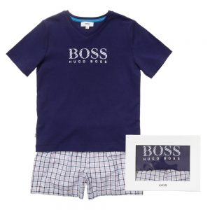 BOSS-Boys-Navy-Blue-Check-Pyjamas-in-a-Gift-Box