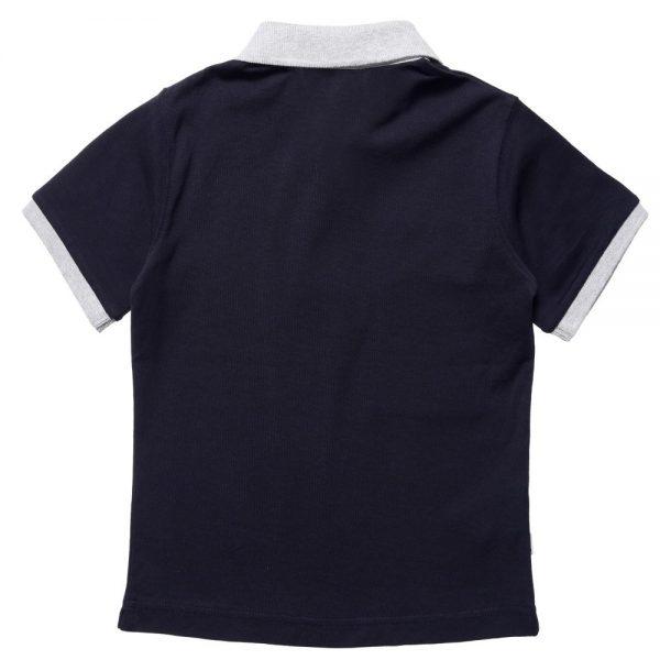 BOSS Boys Navy Blue Cotton Jersey Polo Shirt 1