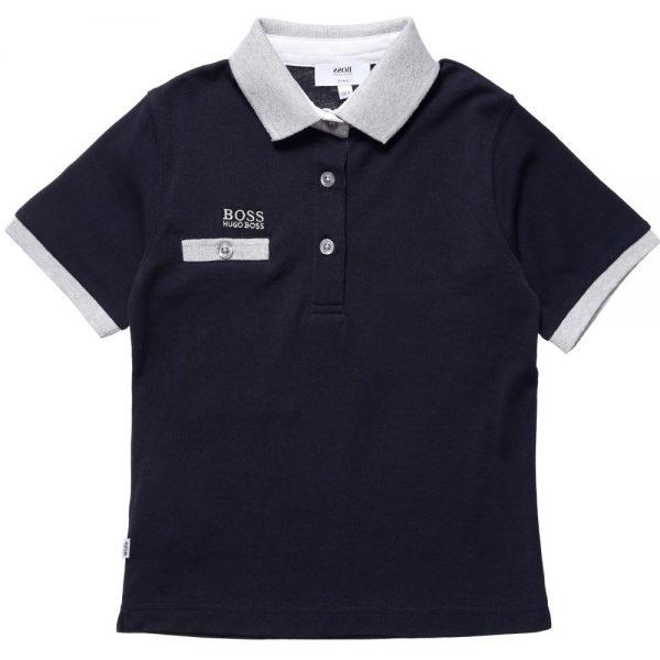 BOSS-Boys-Navy-Blue-Cotton-Jersey-Polo-Shirt