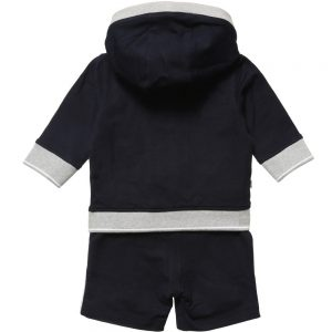 BOSS Boys Navy Blue Short Tracksuit 2