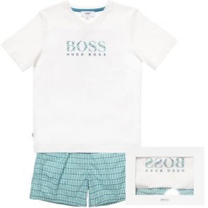 BOSS-Boys-White-Green-Check-Pyjamas-in-a-Gift-Box