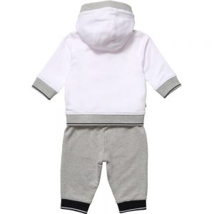 BOSS Boys White & Grey Tracksuit 2