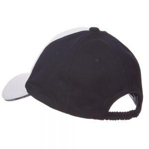 BOSS Boys White & Navy Blue Cotton Cap 2