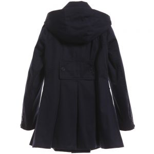 BOSS Girls Navy Blue Hooded Trench Coat 1