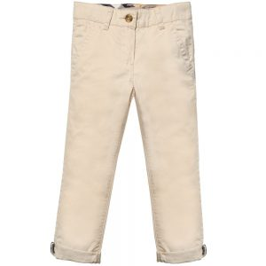 BURBERRY Boys Beige Chino Trousers