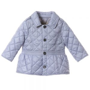 BURBERRY Girls Lilac Quilted Jacket