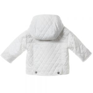 BURBERRY Unisex Babys White Quilted Jacket 1