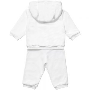 BURBERRY White Cotton Unisex Baby Tracksuit 1