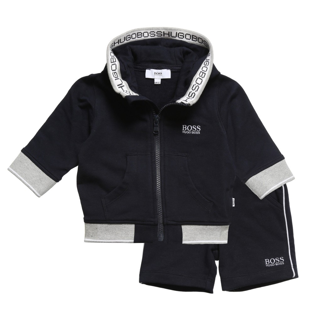 Boss Boys Navy Blue Short Tracksuit