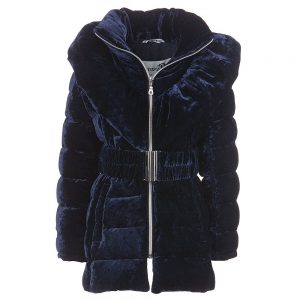 CANZITEX Girls Goose Down Padded Velvet Coat