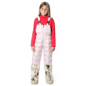 CANZITEX Girls Pink Goose Down Padded Salopettes 1