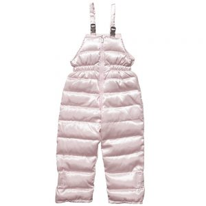 CANZITEX Girls Pink Goose Down Padded Salopettes