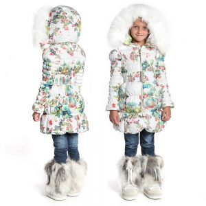 CANZITEX White Quilted Floral Down Padded Coat 1