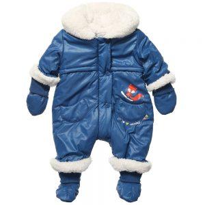 CATIMINI Baby Boys Blue Padded Snowsuit