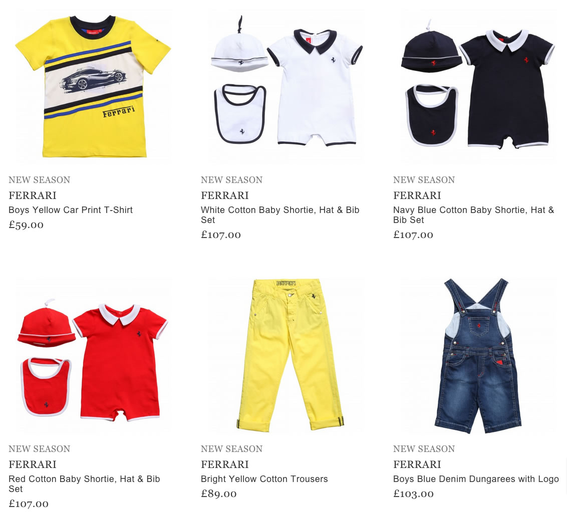 Ferrari Kids Wear