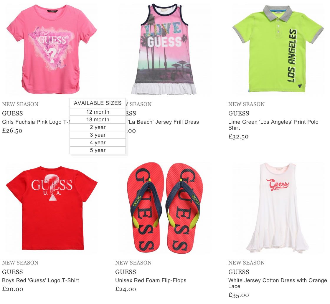Guess Kids & Baby Clothes