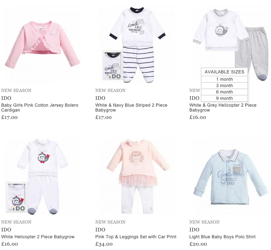 Ido Baby Clothes Children Boutique