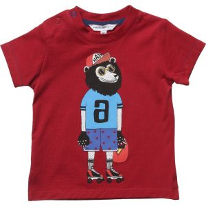 LITTLE MARC JACOBS Baby Boys Red T-Shirt with Cartoon 1Character
