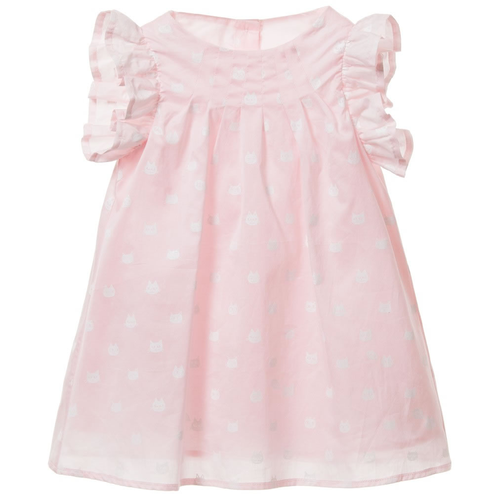 08fcf1624042 LITTLE MARC JACOBS Baby Girls Pink Cat Print Dress with Bloomers ...