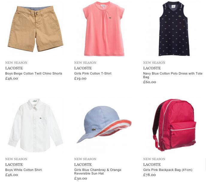 Lacoste Children Wear