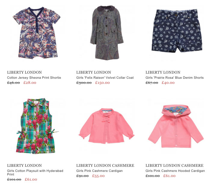 Liberty London Children Clothing