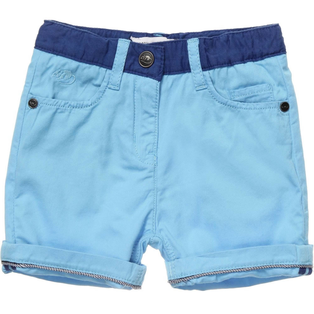 Little Marc Jacobs Baby Boys Blue Cotton Shorts Children