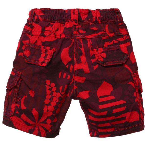 Little Marc Jacobs Baby Boys Red Floral Cotton Shorts