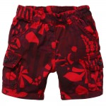 Little Marc Jacobs Baby Boys Red Floral Cotton Shorts1