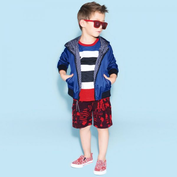 Little Marc Jacobs Baby Boys Red Floral Cotton Shorts2