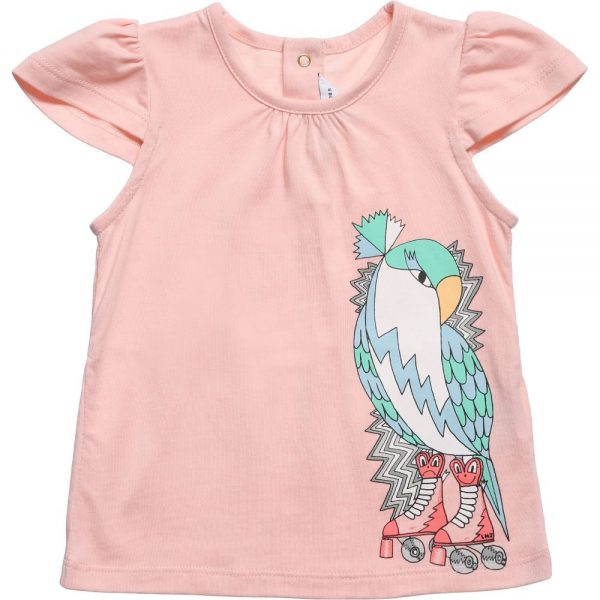 Little Marc Jacobs Baby Girls Pink Bird Print T-Shirt1