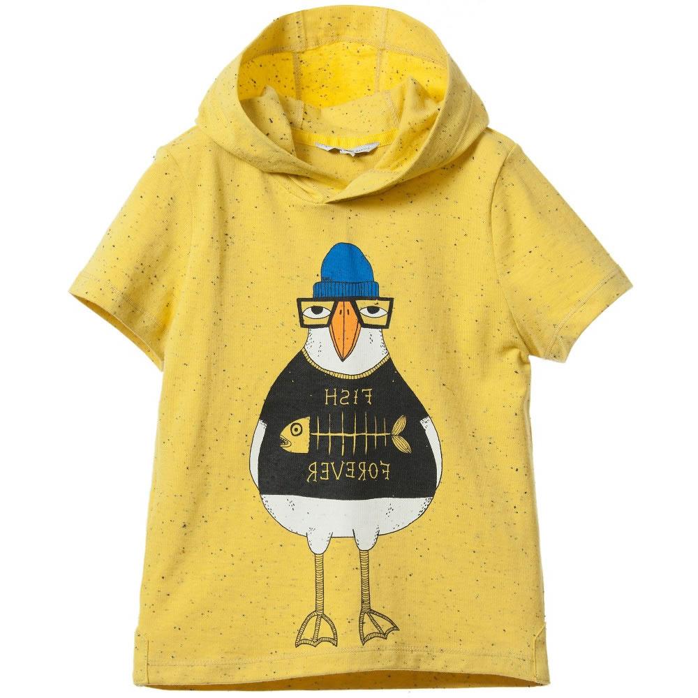 a13f75466 LITTLE MARC JACOBS Boys Yellow Hooded Bird T-Shirt - Children Boutique