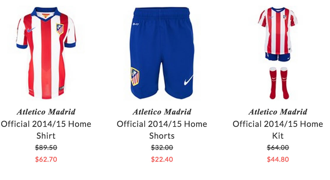 Atlético de Madrid kids sport clothing