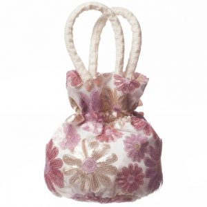 CHARABIA Pink Floral Sequin Bag (18cm) 1