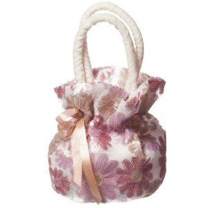CHARABIA Pink Floral Sequin Bag (18cm)