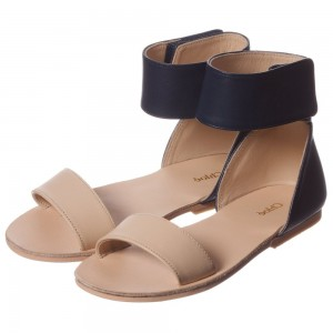 CHLOÉ Blue & Tan Leather Sandals