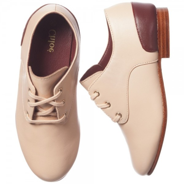 CHLOÉ Pale Peachy Pink Leather Shoes 1
