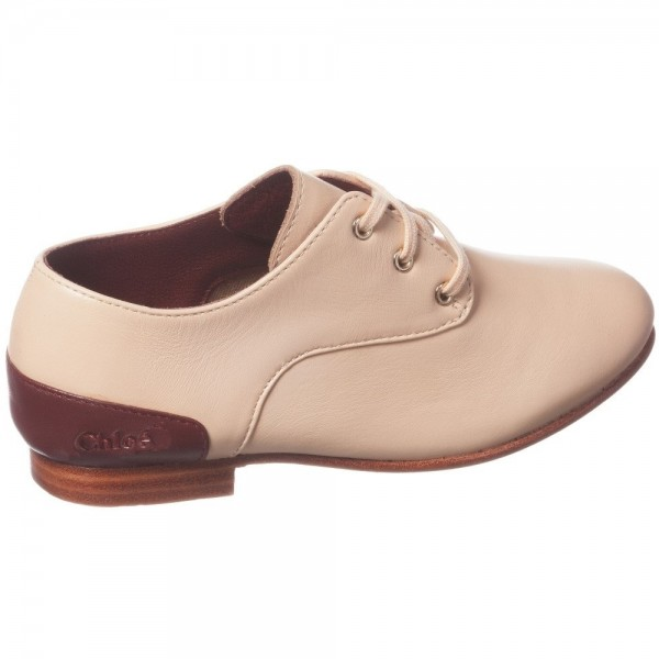 CHLOÉ Pale Peachy Pink Leather Shoes 3