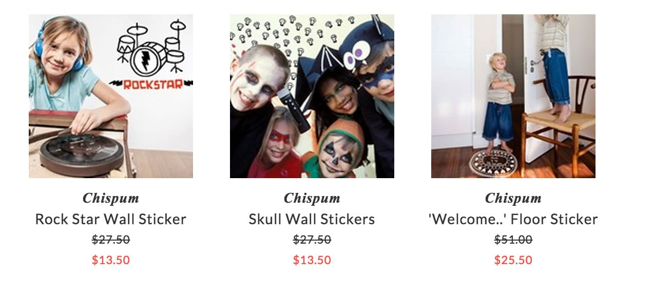 Chispum wall & floor stickers for kids