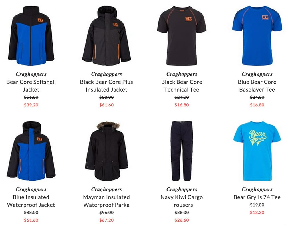 Craghoppers children clothing