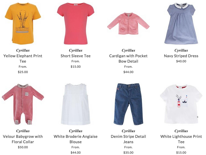 Cyrillus children & baby clothing