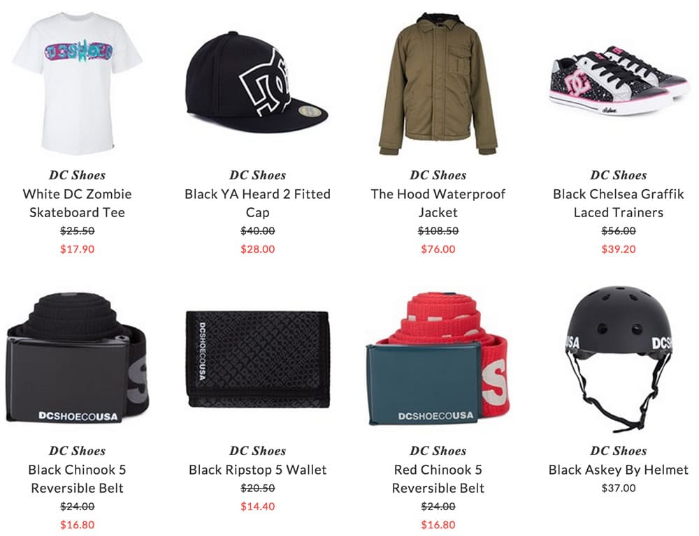 DC Shoes kids clothing & accessories