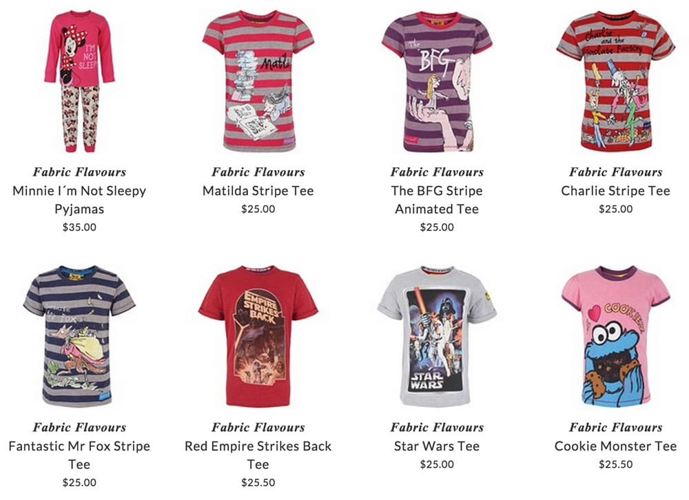 Fabric Flavours kids t-shirts