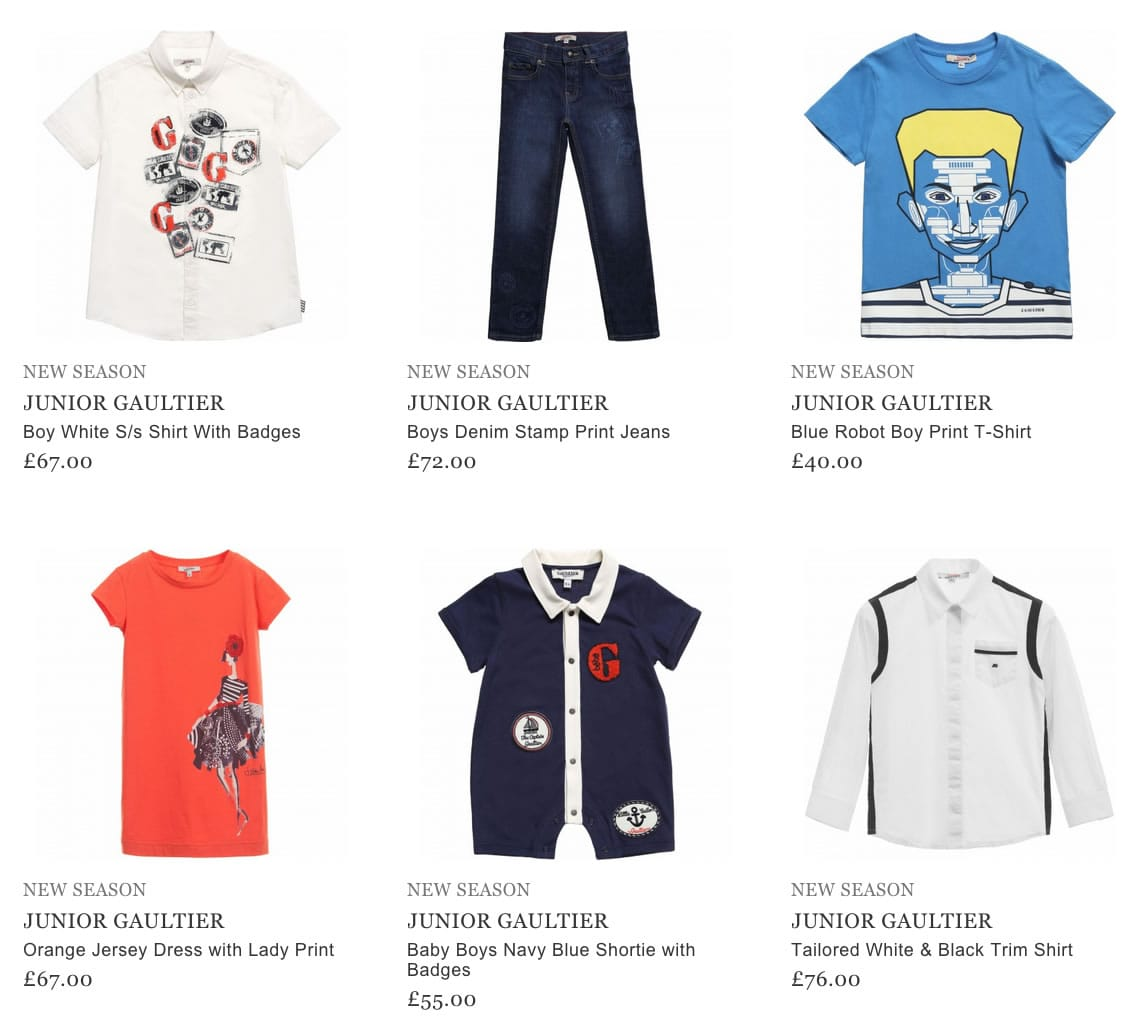 Junior Gaultier Kids Clothes