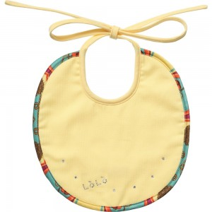LOREDANA LÒLÒ Yellow Satin Trim Bib with Swarovski Crystals1