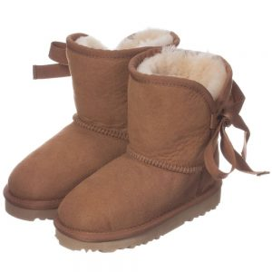 LOVE FROM AUSTRALIA Brown Sheepskin 'Cupid' Boots